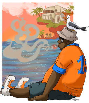Plastic Beach - Russel by EvilCreampuff