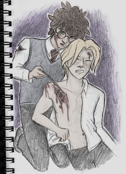 Patching Each Other Up (Drarry art challenge #3) by past-liam