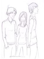 Peeta, Katniss and Gale by Grouillote-oh
