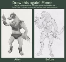draw this again meme by wolf117M