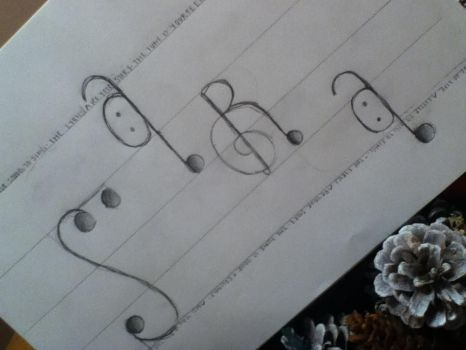Sara Music Note Name by lyrics-in-the-sky
