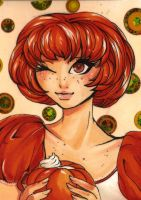 ACEO 93: 'DRINK ME' Pumpkin Cream Drink by Forunth