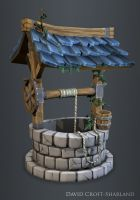 Hand Painted Well by DavidCroftSharland