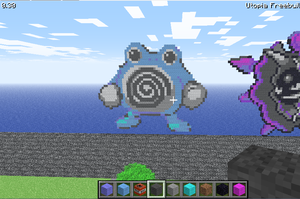 Poliwhirl minecraft pokemon by bluecarseat