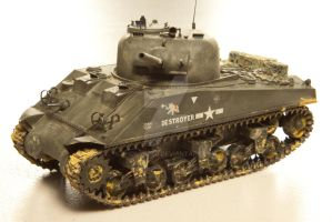 M4A2 Sherman in Tarawa by shonenred