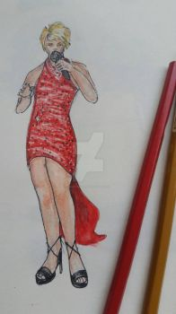 Red dress by jimmykins07