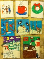 Holiday Cards 2012 backs by Deviant-Danni