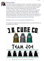 I'm mentioned on Facebook for helping good cause by DoctorWhoOne