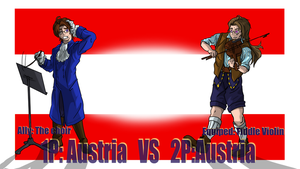 Hetalia Fight :1P Austria vs 2P Austria by Sagealina