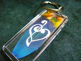 Feather Painting Keychain 41 by dittin03