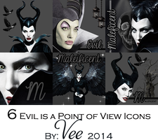 6 Large icons Maleficent by Vee-Deviant