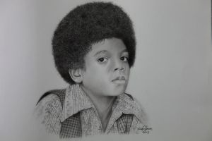 Michael Jackson (Graphite pencil) by InnerComa