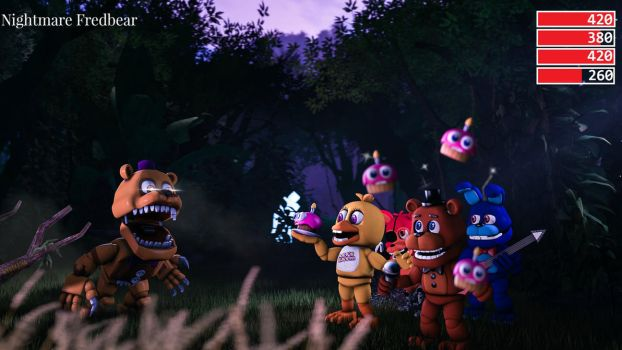 FNAF World 3D Battle recreation by myszka11o