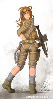 Female soldier 03 coloured by Auzzymo