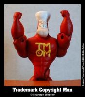 Trademark Copyright Man by bratpop