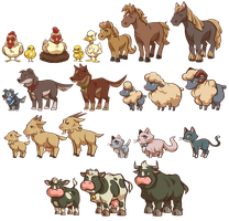 Game Items - Farm Animals by IntroducingEmy