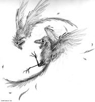Archaeopteryx lithographica by tranimation-art