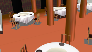 MMD fancy Dining Hall by amiamy111