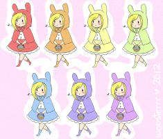 AT: Little Fionna Multi-colored Riding Hood by wonsterrr