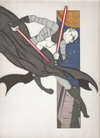 Colored Asajj Ventress by JeanArrow