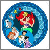 Little Mermaid Stained Glass by CeruleanLegacy