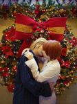 Christmas kiss by brionyriddle