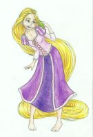 Rapunzel and Pascal -thank you for 5 000 pageviews by Xijalle