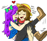 [Stardew Valley] Abby and My Farmer by iKeychain