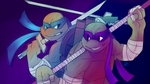 Collab: Leo and Don by Shellsweet