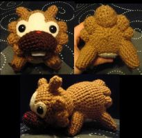 Custom Amigurumi Bidoof Plush by Lunarchik13
