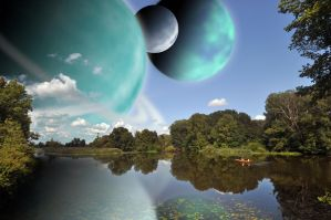 Planet lake scene by Bushman23
