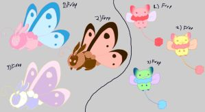 Bunnerfly and Dragster free adoptables set 4 SOLD by Feendra13