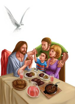 Dinner with Jesus by Vaivedrai