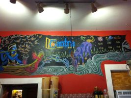 Tantra Coffeehouse Chalk Mural by GracePark