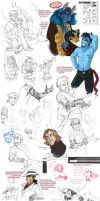 Sketchdump - January 2011 by Quarter-Virus