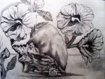 Flowers and Shells by Artzy-chick