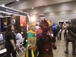 Armageddon Expo 2012 - Syaoran Li and Ironman by fulldancer-alchemist