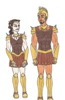 69th Hunger Games: District 2 Chariot Costumes by 13foxywolf666