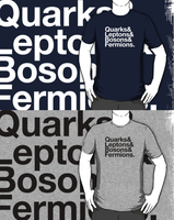 Quarks, Leptons, Bosons, Fermions. (Redbubble) by armageddon