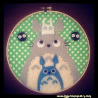 My Neighbor Totoro Hoop by iggystarpup