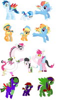 Family Batch adopts 14 by Yoshi123pegasister