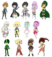 Chibis of Everyone v3 by AmazinWaffle