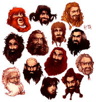 dwarfheads by tattiOsala