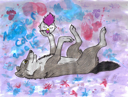 Water Color Wolf by BlackTailwolf