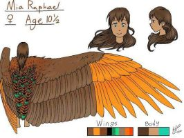 Reference Sheet 02: Mia Raphael (Duh) by Writing-and-Art55