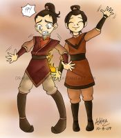 Zuko and Azula by OrangeBlueCream