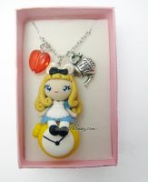 Alice in wonderland necklace by AlchemianShop
