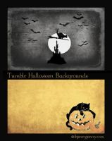 2 Free Halloween Tumblr Backgrounds by ibjennyjenny