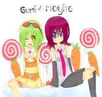 Gumi and Mayito by JinxRuu