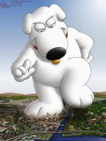Brian Griffin - The Beast Of Rhode Island by RipRoarRex